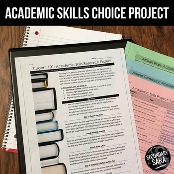 Life Skills Project: Become a Better Student! (ELA & Cross