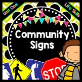 Life Skills - Reading - Community / Safety Signs - Special