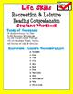 Life Skills Reading Comprehension: Recreation & Leisure