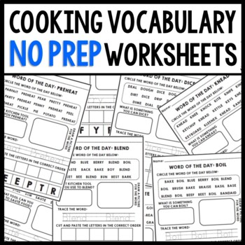 Life Skills Reading and Writing: Cooking Vocabulary Warm U
