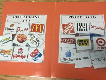 Life Skills- Restaurant or Store File Folder Activity
