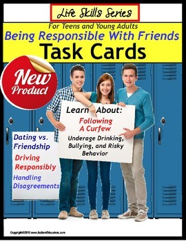Life Skills Special Education Task Cards BEING RESPONSIBLE