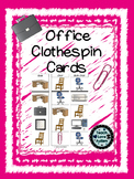 Life Skills Tasks: Office Clothespin Cards