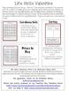 Life Skills Valentine Print & Go Worksheets: Money and Gro