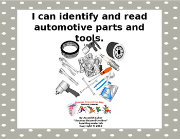 Life Skills/Vocational Skills: I Can Identify and Read Aut