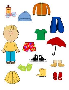Life Skills Weather File Folder (Male Version)