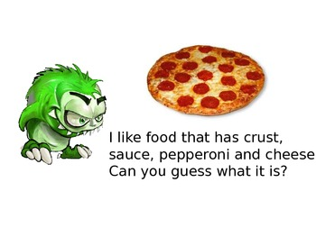Special Education: What do Monsters Eat?  Guess the Food P