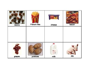 Special Education: Where Does Food Come From? - Match