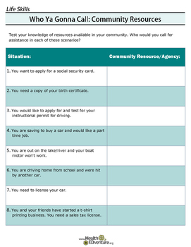 Life Skills for Teens: Community Resources