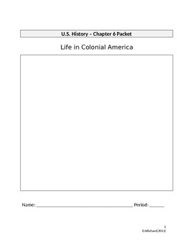 Life in Colonial America (Interactive Notebook Packet)