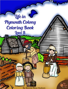 Life in Plymouth Colony Coloring Book