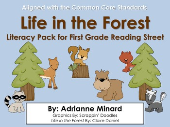 Life in the Forest Literacy Pack - First Grade Foresman Re