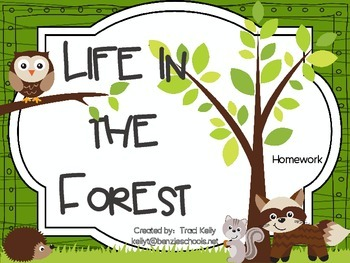 Life in the Forest Homework - Scott Foresman