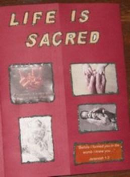 Life is Sacred Catholic Respect Life Lapbook