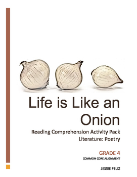 Life is like an Onion: 4th Grade Poetry Lesson Activity Pa