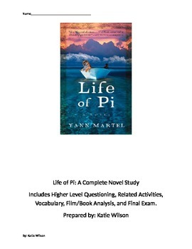 Life of Pi: Complete Novel Study Guide