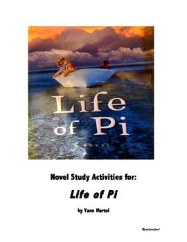 Life of Pi - Printable Novel Study Activities