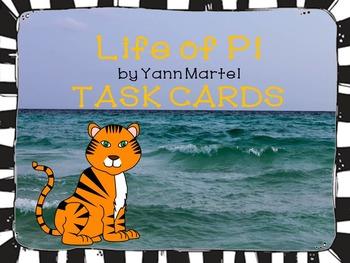 Life of Pi by Yann Martel TASK CARDS Code X Unit 2