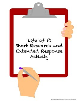 Life of Pi Short Research and Written Response Activity