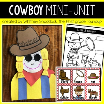 Life of a Cowboy: K-2 literacy mini-pack