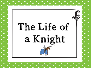 Life of a Knight in Medieval Europe Resume Writing Activity