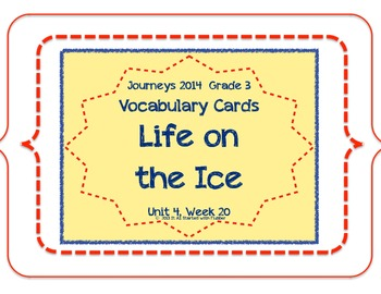 Life on the Ice, Vocabulary Cards, Unit 4, Lesson 20, Jour