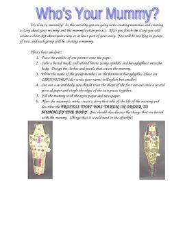 Life-sized--Egyptian Mummy Project