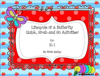 Lifecycle of a Butterfly Quick Grab and Go Activities!