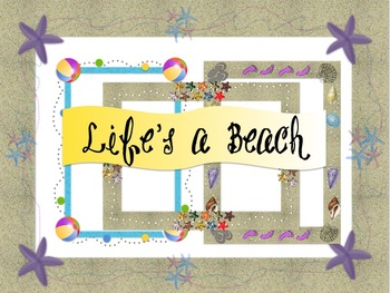 Life's a Beach Frames {personal and commercial use}