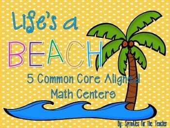 Life's a Beach Math Centers