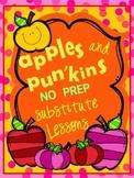 Lifesavers Apples & Pumpkins Substitute Lesson Plans