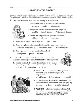 Lifeskills Vocabulary: Caring for the Elderly