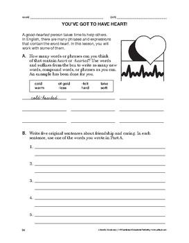 Lifeskills Vocabulary: You've Got to Have Heart!