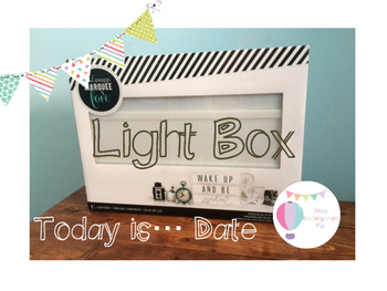 Ligh Box: Today's Date Color-BW
