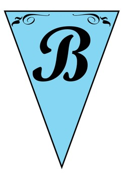 Light Blue Banners A-Z, 0-9 36 Pages (Printable)