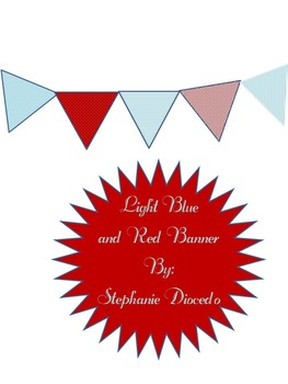 Light Blue and Red Banner