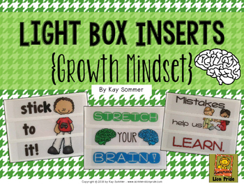 Growth Mindset Light Box Slide Inserts