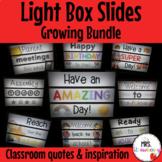 Light Box Slides  Light Box Inserts