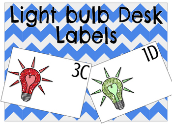 Light Bulb Desk Labels