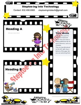 Light Camera Action Newsletter Template