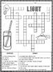 Light Crossword Puzzle Activity