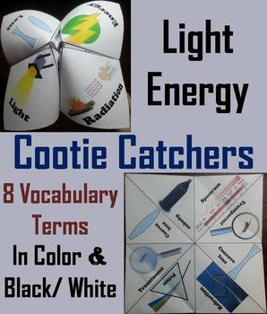 Light Energy Activity (No Prep SCOOT Unit Review Game)