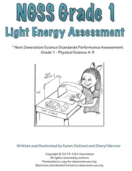 NGSS Grade 1 Light Energy Performance Assessment