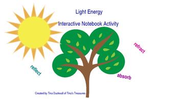 Light Energy Interactive Notebook Activity