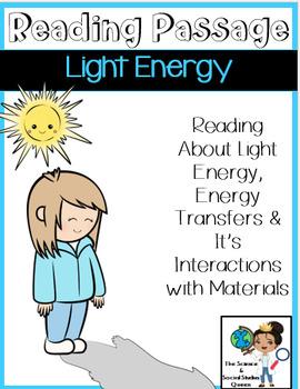 Light Energy Reading Passage & Activities