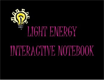 Light Energy Vocabulary Foldable