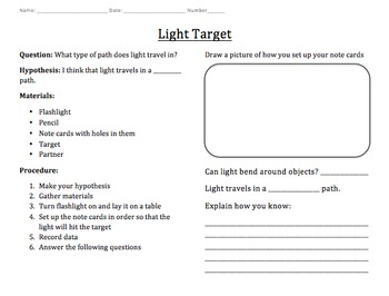 Light Target Experiment (Editable)