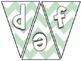 Pennant Bulletin Board Letters -Light Green Chevron