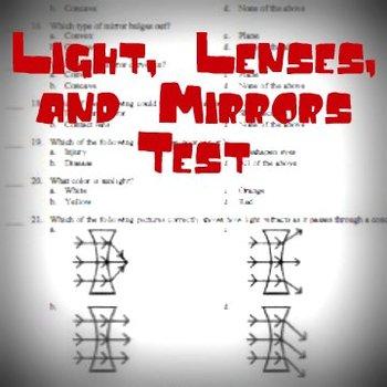 Light, Lenses, and Mirrors Test