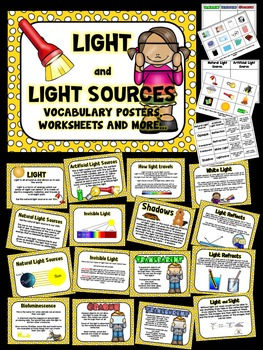 Light, Light sources and properties of light -Posters, Voc